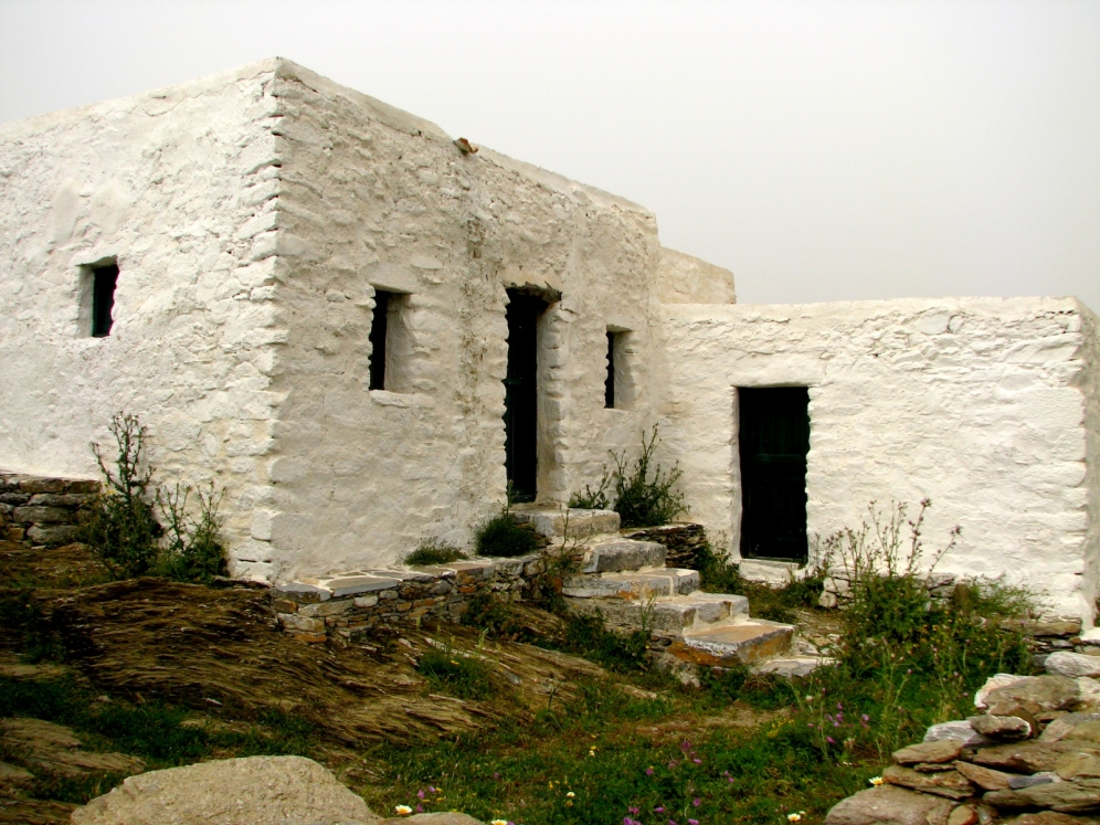 Παραδοσιακή κατοικία στην Αμοργό.