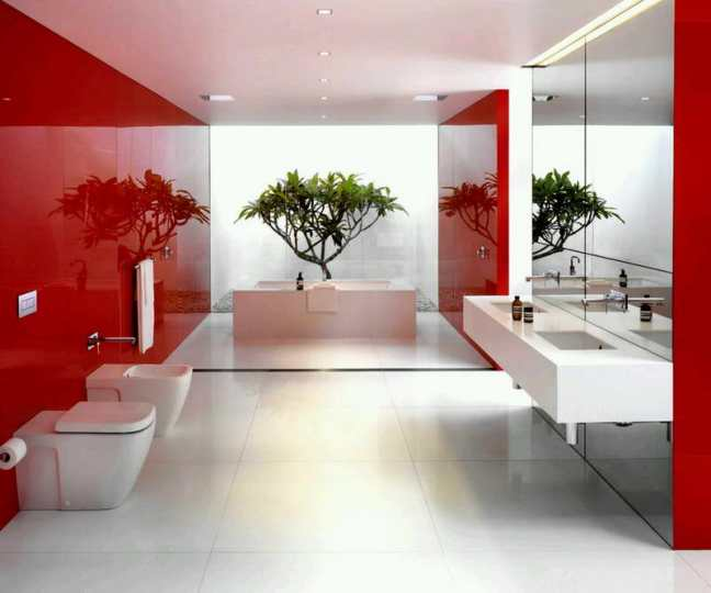 Bathroom-Decorating-Ideas-Pictures-With-Red-Walls
